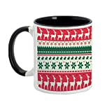 Christmas Mugs/Gift - AllUPrints Royal Christmas Stag Black Coffee Mug - 11 oz best price on Amazon @ Rs. 399