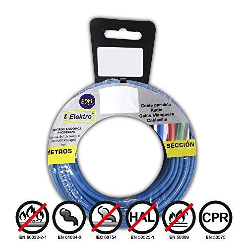 Angelrolle cablecillo flexibel 4mm blau 20mts. libre-halogeno