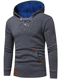 VENMO Herren Herbst Winter Outwear Hoodie mit Kapuze Sweatshirt Oberteile  Jacke Mantel Jumper Pullover Kapuzenpullover Jacke 0fc804710a