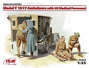 ICM 35662Maqueta de Model T 1917Ambulance with US Medical Personnel