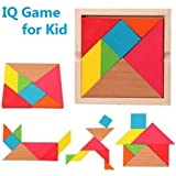 Vibgyor Vibes 7 Piece Wooden Tangram Puzzle for mind development of Kids