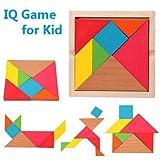 Vibgyor Vibes™ & Piece Wooden Tangram Puzzle for mind development of Kids