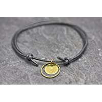 Armband Circle Gravur schwarz Freundschaftsamband personalisiert