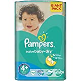 70 COUCHES PAMPERS ACTIVE BABY DRY taille 4 +