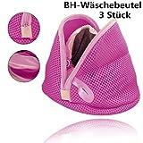 huichang BH-Wäschebeutel, 3 Stück Wiederverwendbare Wäschesack mit Reißverschluss Wäschenetz für Waschmaschine, für BHs, Kleidung, Socken, und Baby Kleidung Usw (Rose Rot)
