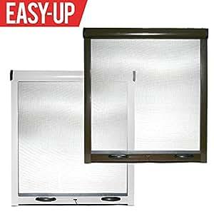 Zanzariera universale a rullo frizione per finestre porte zanzariere kit marrone easy up - Amazon zanzariere per finestre ...