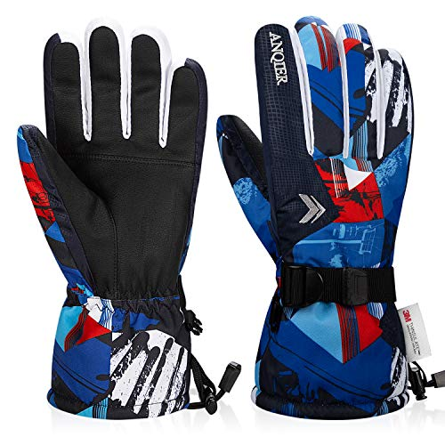 Coskefy Guantes Esquí Impermeable Hombre Mujer Guantes