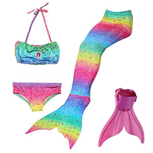 Meerjungfrauenschwanz Zum Schwimmen Mädchen Cosplay Prinzessin Kostüm Bikini Badeanzug für ()