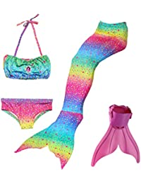 ShePretty Traje de Baño de La Cola Sirena de Las Muchachas Bikini Set para Nadar Traje de Sirena