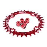 Sharplace 1 Stück Fahrrad Kettenblatt mit 5 Stück Kurbelschrauben 32 Zähne, 4 Schrauben Design