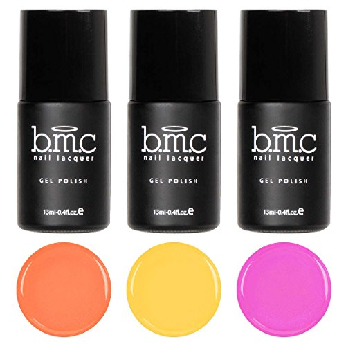 BMC Super Cute 3pc Mosaic Glass Clear Blendable Sheer Tints UV/LED Soak Off Gel Polish - Set 2