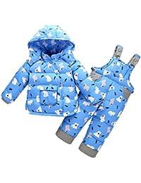 d2a2aa182 Bebé Traje de Esquí Niño Niña Invierno Ropa Set Chaqueta Establece Deporte  Cálido Abajo Chaquetas de