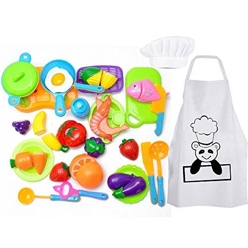 Harxin Alimentos de Juguete 28 Piezas Cortar Frutas Verduras Temprano