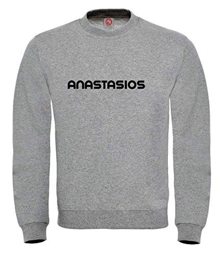 Felpa Anastasios - Print Your Name Gray