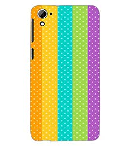PrintDhaba Pattern D-2163 Back Case Cover for HTC DESIRE 826 (Multi-Coloured)