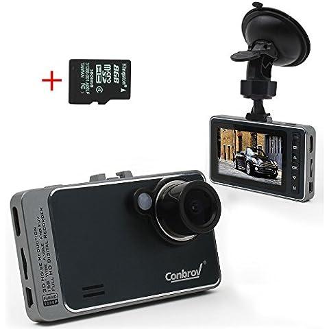 Conbrov® T89 1080P Full Hd-Dash Cam per cruscotto auto con
