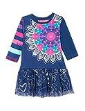 Desigual Vest_cristina - vestido Bebé-Niños, color Azul (AZUL TINTA), talla 3 meses