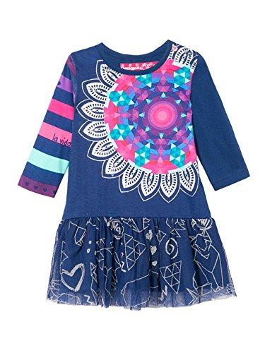 Desigual Vest_cristina - vestido Bebé-Niños, color Azul (AZUL TINTA), talla 18 meses