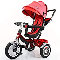 Little Bambino 4 in1 Blue Trike Parent Push Handle Kids Trike Tricycle Childrens Push Stroller Pink Tricycle for Children Trike Tricycle for Kids Age 2-6 Summer 2019