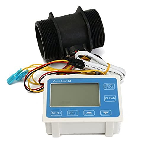 Tutoy Zj-Lcd-M Lcd Digitalanzeige Wasserdurchfluss-Sensor Meter Quantitative Durchflussmesser Mit Magnetventil
