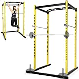 Physionics Power Rack Cage Multistation Hantelbank Muskeltraining Fitnessstation für Krafttraining 143X140X225cm