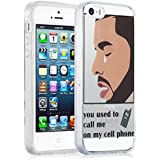 Funda iPhone 5/5s y iPhone SE Case, JAMMYLIZARD Funda De Silicona Flexible Gel Transparente Sketch Back Cover, HOTLINE BLING