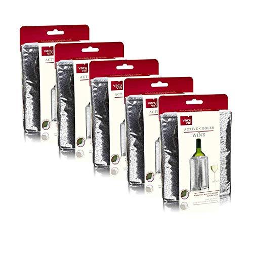 """Unser Herbstknaller: 5x Weinkühler \""""Rapid Ice Silber\"""" von Vacu Vin"""