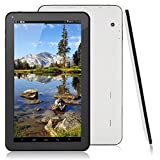 Arespark 10.1 Zoll Tablet PC, Allwinner A33 Quad Core CPU, Google Android 4.4 KitKat OS, 1024x600 Multi-touch Screen, 8GB, Dual Camera, Wifi Weiß
