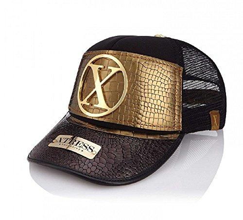 Xtress Exclusive Gorra Fashion para Hombre y Mujer Negra y Dorada. 91f08f06436