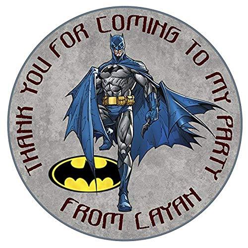 Personalisierte Batman Geburtstag Party Thank You Dichtungen 50mm 5,1cm Party Aufkleber Thank You Etiketten