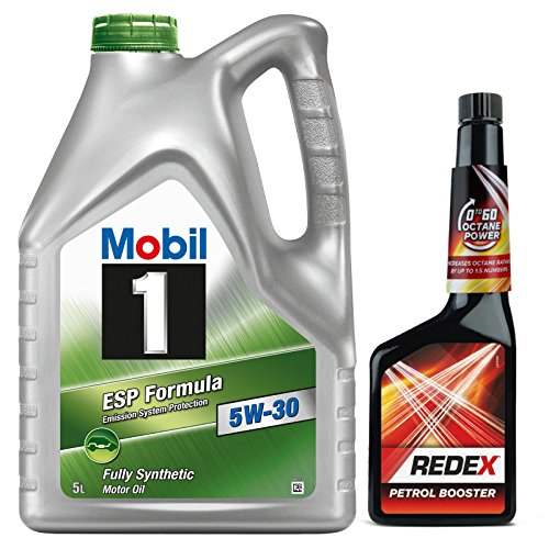 mobil-1-5w-30-esp-fully-synthetic-engine-oil-5-litre-redex-petrol-0-to-60-octane-booster-500ml