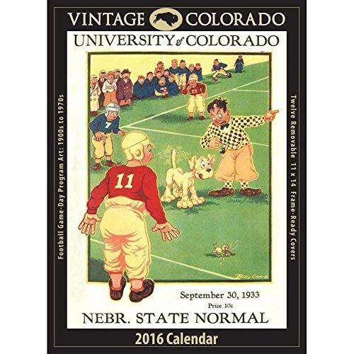 Vintage Colorado Buffaloes Football Poster Calendar by Asgard Press by Calendar Company