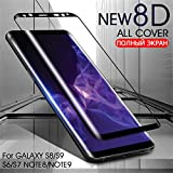 PmseK Protection d'Écran,Verre Trempé,Film Protecteur d'Écran,8D Full Cover Tempered Glass on The for Galaxy S8 S9 Plus Note 8 9 Screen Protector for S7 S6 Edge Glass Film S8 Gold
