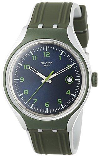 Swatch Yes400439mm Coque en aluminium Gris Coque en silicone minéral montre homme