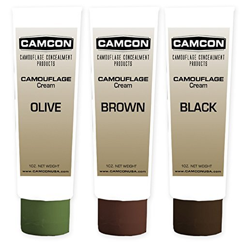 Camo Make-up-kit (Camcon Camo Cream Squeeze Tube Make-up Kit by Camcon)