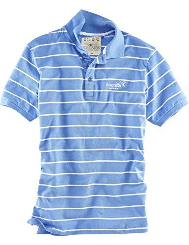 ROADSIGN australia Streifen Polo-Shirt Sunset Stripes royal / weiß