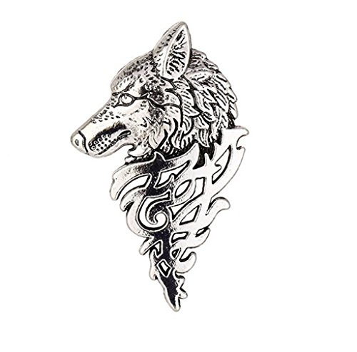 Wolf Head Halsband Brooche (Red Bird Kostüme)
