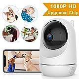 VIDEN Cámara IP WiFi 1080P, Cámara de Vigilancia Seguridad para casa con Visión Nocturna, Detección de Movimiento Remoto, Alarma de Correo Electrónico, Audio de 2 Vías, Compatible con iOS, Android