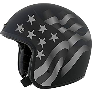 AFX fx-76 Flagge Freiheit Stealth Open Face Low Profile Motorrad Helm Retro Vintage