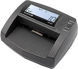 Olympia NC 335 Automatisches Geldscheinprüfgerät (Updatebar, LCD-Display, Geldzähler integriert, Mobiler Geldscheinprüfer für Euro-Noten)