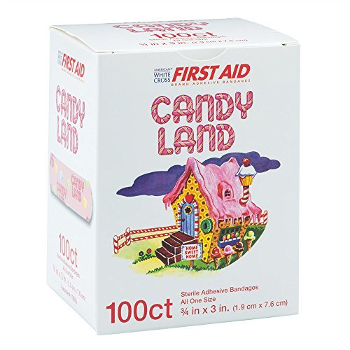 candy-land-bandages-first-aid-supplies-100-per-pack-by-smilemakers