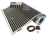Calorique Infrarot Heizfolie Elektrische Fußbodenheizung 50 cm Set 90 W/m² 1,0 m² - effiziente und kostengünstige Heizung für Neubau oder Altbau-Sanierung