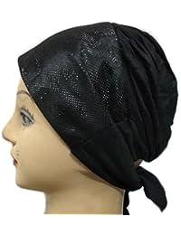 Cwen Collection Hijab SHIMMER PATTERN TIE BACK Bonnet Women Cap Under Scarf Hat Stole Kitchen Pregnancy Hair Head Cover