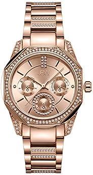 JBW Luxury Women's Marquis 5 Diamonds Faceted Bezel Metal Watch - J6369B