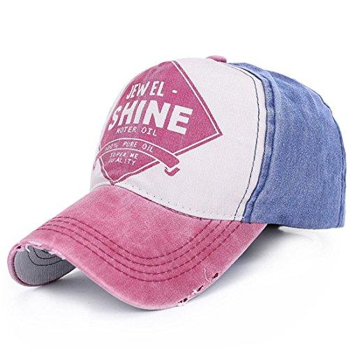 Belsen Damen Vintage Baseball Cap Snapback Trucker Hat (Rust rot)