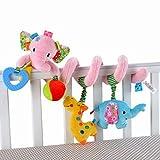 Elefant-Entwurf Säuglings-Baby-Activity-Spirale Bed & Kinderwagen Spielzeug-Bett rattert Glocke hängen Krippe Spielzeug, Rosa