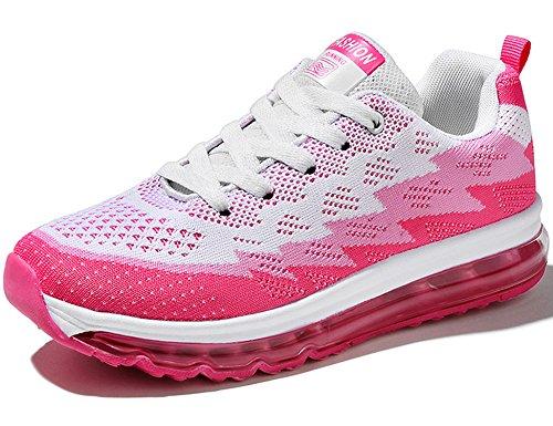 GNEDIAE Herren Damen Sportschuhe Laufschuhe mit Luftpolster Turnschuhe Profilsohle Sneakers Leichte Schuhe