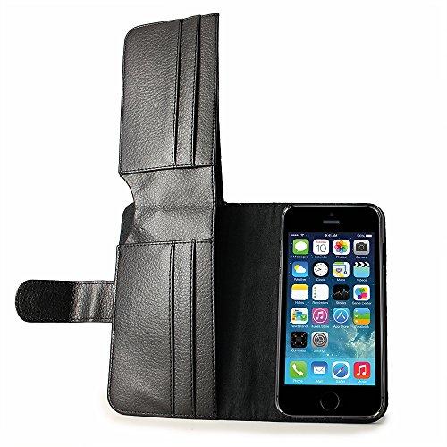 iPhone 6Wallet Tasche 11,9cm–iPhone 6Full Size Slim Geldbörse Leder Case, Leder, schwarz, iPhone 6 (11,9 cm / 4,7 Zoll) schwarz