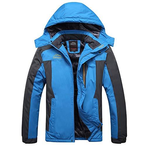 Dooret uomo donna inverno caldo sci giacca con cappuccio all'aperto alpinismo giacca a vento impermeabile antivento sportivo con cerniera