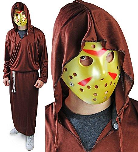 Komplett Halloween Set Reaper Kostüm JASON HOCKEY Maske Robe (Tod Krieger Kostüm)